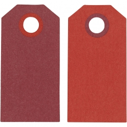 etiquette bicolore rouge 6x3 cm 20 pieces