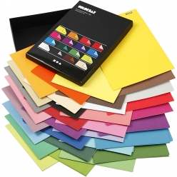 papier 250gr a4 color bar coloris vives  160 f assortis
