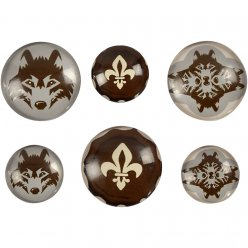 cabochon rond bombe oslo 6 pieces
