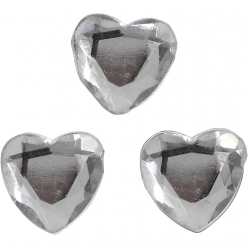 pierres de strass coeur 10 mm 150 pieces