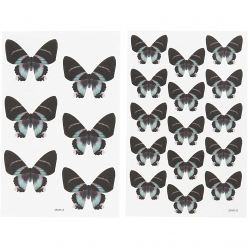 autocollants papillon assortiment 4 feuilles