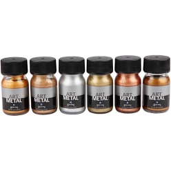 peinture art metal assortiment 6x30 ml