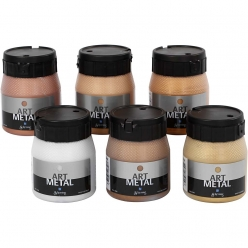 peinture art metal assortiment 6x250 ml