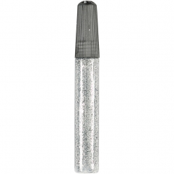 colle pailletee 10 ml argent 6 pieces