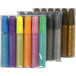 gel paillete decoratif lot de 24 tubes