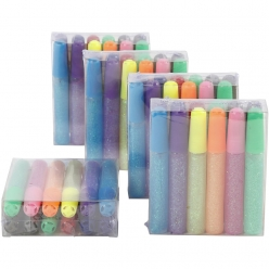 colles pailletees en 12 couleurs 10 ml lot de 60 pieces