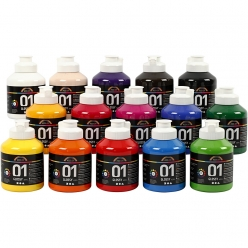 peinture a  color brillante assortiment 15x500ml