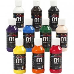 peinture acrylique a color assortiment 10x100 ml