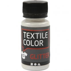 medium textile glitter transparent a paillettes 50 ml