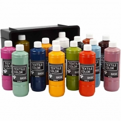 peinture modes textile color 15x500 ml assortiment