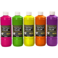 peinture fluo textil color 5x500 ml assortiment