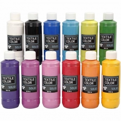peinture textil color solid 12x250 ml assortiment
