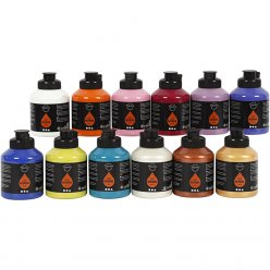 peinture acrylique art school assortiment extra 12x500 ml