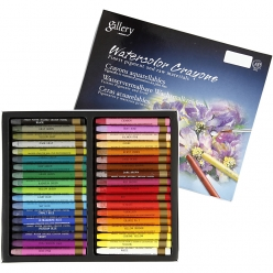 crayons aquarellables a base de cire 36 pieces