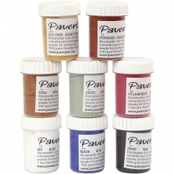 paver color assortiment de pigments colorants