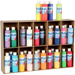 peinture acrylique plus color assortiment 30x250ml