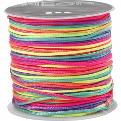 corde polyester macrame couleur neon 1 mm 28 m