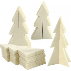arbres en feutrine 9x15 cm lot de 30 pieces