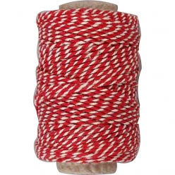 ficelle bicolore rougeblanc 11 mm 50 m