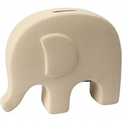 tirelire elephant 14 cm 8 pieces