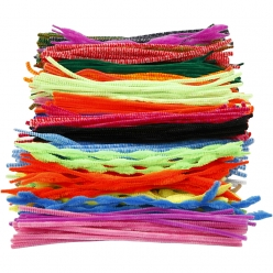 fil chenille 5  12 mm assortiment 500 pieces