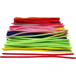fil chenille 6 mm assortiment 200 pieces