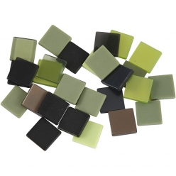 mini mosaique 10x10 mm mix vert 25 gr