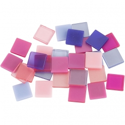 mini mosaique 10x10 mm mix rose violet 25 gr