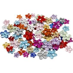 pierre de strass forme fleur 6  12 mm 252 pieces