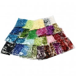 sequins ronds 32x25 gr assortiment