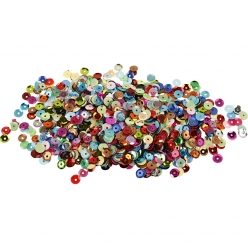 sequins paillettes bombees 6 mm 100 gr