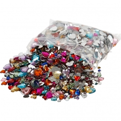 pierre de strass coeurs assortiments 6  14 mm 2520 pieces