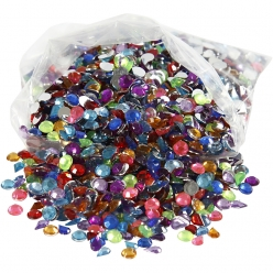 strass 5 mm assortiment colore 3000 pieces