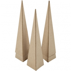 cones carrees 20 cm lot de 5 pieces