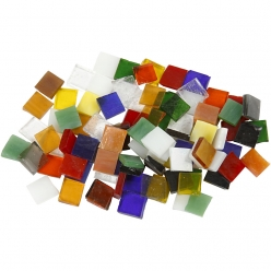 mosaique en verre 10x10 mm assortiment