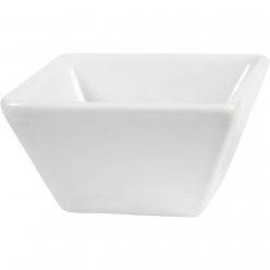 bols carres porcelaine blanche 6x6 cm 12 pieces