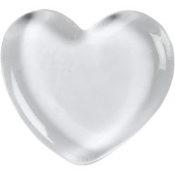 coeur en verre transparent 20 pieces