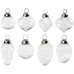 decorations en verre 3551 cm lot de 6 pieces