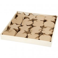 decorations en bois mdf 10 cm assortiment 160 pieces