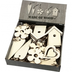 decorations en bois lot de 100 pieces