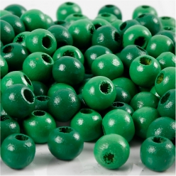 perles en bois colore 8 mm 100 pieces