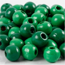 perles en bois colore 10 mm 70 pieces