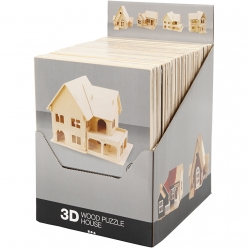 kits de construction 3d en bois 24 pieces