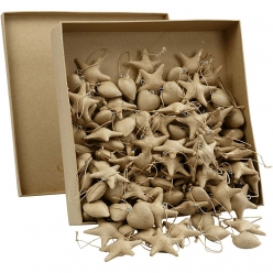 support en papier mache noel assortiment de 120 pieces