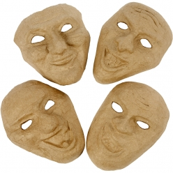 masques de theatres lot de 4 pieces