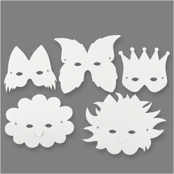 masques en carton 15 20 mm assortiment 5 pieces