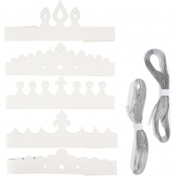 set de couronnes en carton assortiment 50 pieces