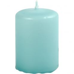 bougie cylindrique turquoise 6 cm 12 pces