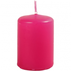 bougie cylindrique rose fuchsia 6 cm 12 pieces