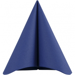 grande serviette de table bleu fonce 40x40 cm 20 pieces